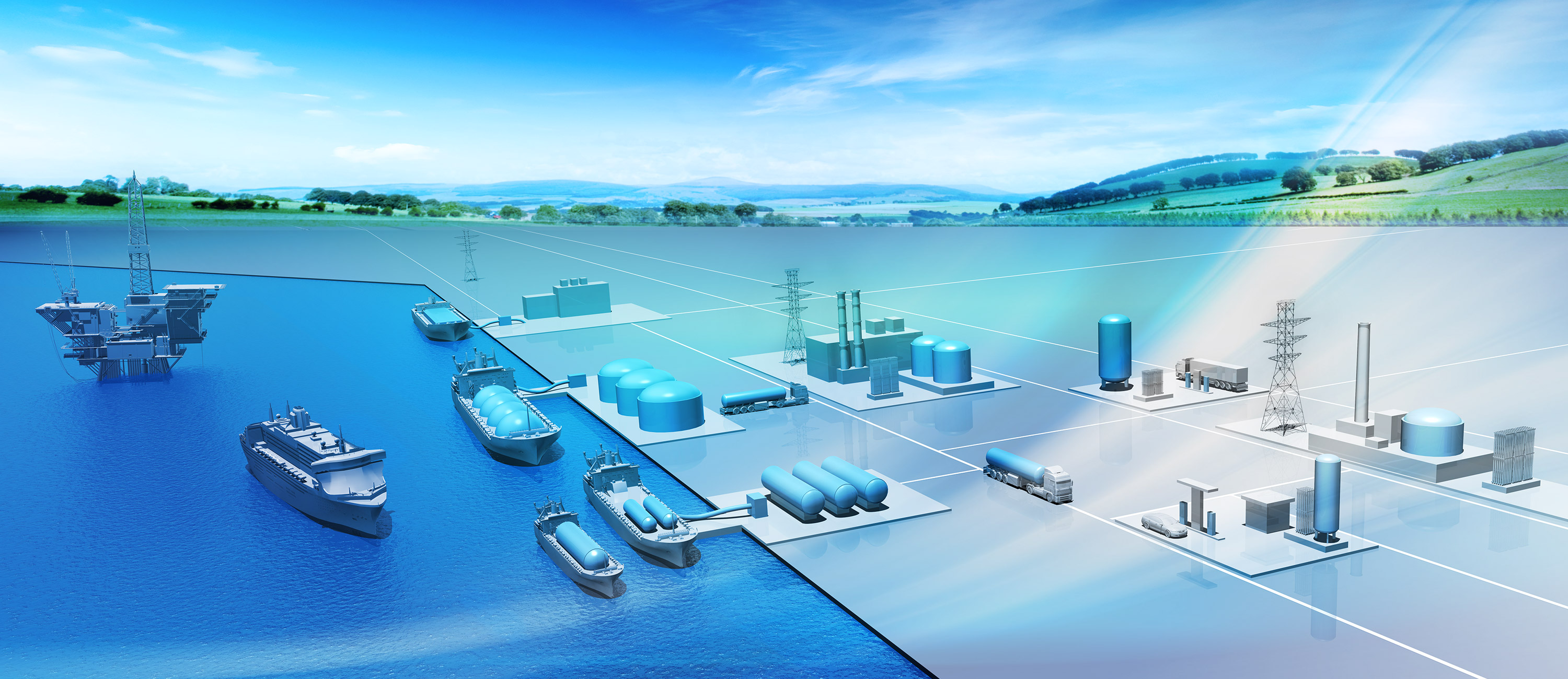 Complete LNG system