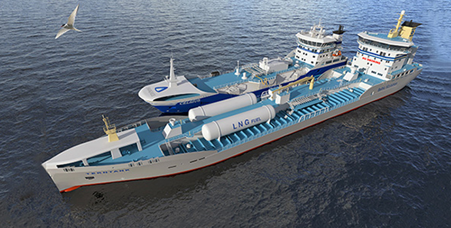 Ship to ship bunkering - LNG fuel