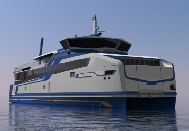 LNG Catamaran ferries fuelled