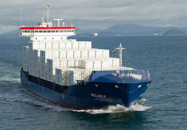 LNG fuelled container vessel - Wes Amelie