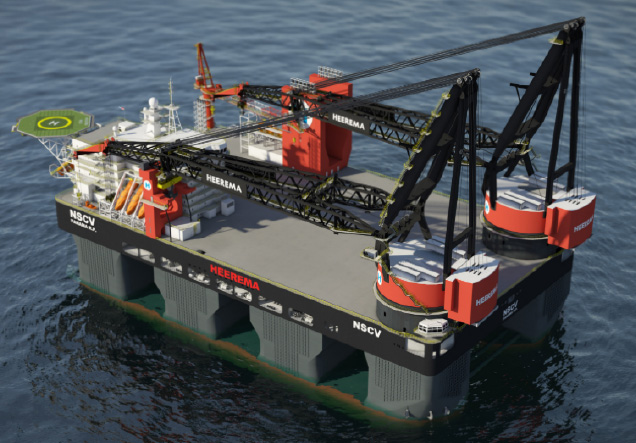 LNG fuelled Heerema Semi-Submersible Crane Vessel